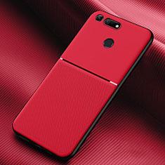 Huawei Honor V20用360度 フルカバー極薄ソフトケース シリコンケース 耐衝撃 全面保護 バンパー C01 ファーウェイ レッド