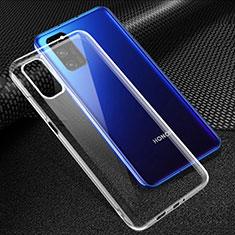 Huawei Honor V30 5G用極薄ソフトケース シリコンケース 耐衝撃 全面保護 クリア透明 T05 ファーウェイ クリア