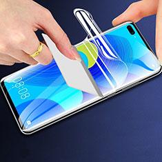 Huawei Honor V30 5G用高光沢 液晶保護フィルム フルカバレッジ画面 F01 ファーウェイ クリア