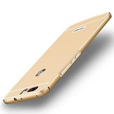 Huawei Honor V8用ケース 高級感 手触り良い アルミメタル 製の金属製 バンパー ファーウェイ ゴールド