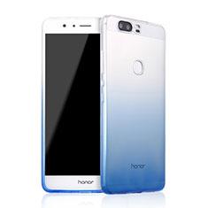 Huawei Honor V8用極薄ソフトケース グラデーション 勾配色 クリア透明 ファーウェイ ネイビー