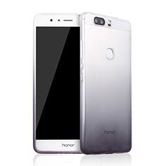 Huawei Honor V8用極薄ソフトケース グラデーション 勾配色 クリア透明 ファーウェイ グレー