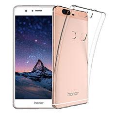 Huawei Honor V8用極薄ソフトケース シリコンケース 耐衝撃 全面保護 クリア透明 T03 ファーウェイ クリア