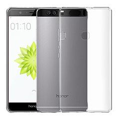 Huawei Honor V8用極薄ソフトケース シリコンケース 耐衝撃 全面保護 クリア透明 T04 ファーウェイ クリア