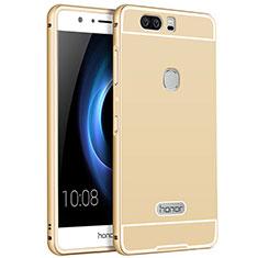 Huawei Honor V8用ケース 高級感 手触り良い アルミメタル 製の金属製 ファーウェイ ゴールド