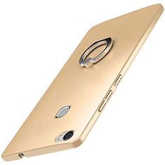 Huawei Honor V8 Max用ハードケース プラスチック 質感もマット アンド指輪 A01 ファーウェイ ゴールド