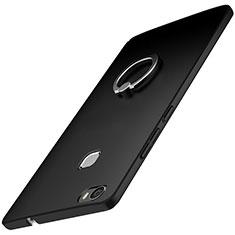 Huawei Honor V8 Max用ハードケース プラスチック 質感もマット アンド指輪 A01 ファーウェイ ブラック