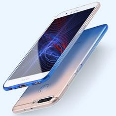 Huawei Honor V9用極薄ソフトケース グラデーション 勾配色 クリア透明 ファーウェイ ネイビー