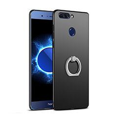Huawei Honor V9用ハードケース プラスチック 質感もマット アンド指輪 A03 ファーウェイ ブラック