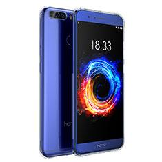 Huawei Honor V9用極薄ソフトケース シリコンケース 耐衝撃 全面保護 クリア透明 T04 ファーウェイ クリア