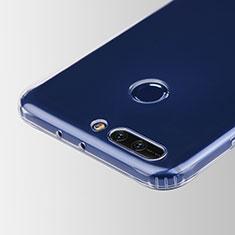 Huawei Honor V9用極薄ソフトケース シリコンケース 耐衝撃 全面保護 クリア透明 T05 ファーウェイ クリア