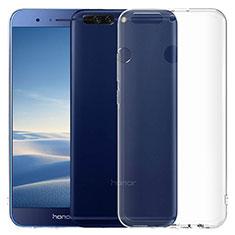 Huawei Honor V9用極薄ソフトケース シリコンケース 耐衝撃 全面保護 クリア透明 T06 ファーウェイ クリア