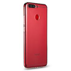 Huawei Honor V9用極薄ソフトケース シリコンケース 耐衝撃 全面保護 クリア透明 R01 ファーウェイ クリア
