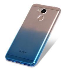 Huawei Honor V9 Play用極薄ソフトケース グラデーション 勾配色 クリア透明 ファーウェイ ネイビー