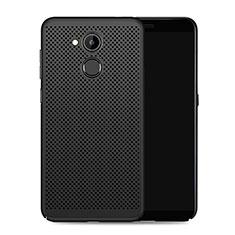 Huawei Honor V9 Play用ハードケース プラスチック メッシュ デザイン ファーウェイ ブラック