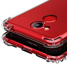Huawei Honor V9 Play用極薄ソフトケース シリコンケース 耐衝撃 全面保護 クリア透明 T03 ファーウェイ クリア