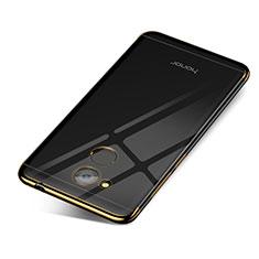 Huawei Honor V9 Play用極薄ソフトケース シリコンケース 耐衝撃 全面保護 クリア透明 H01 ファーウェイ ゴールド