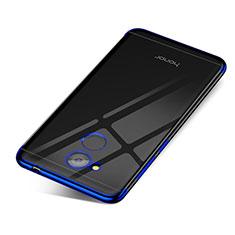 Huawei Honor V9 Play用極薄ソフトケース シリコンケース 耐衝撃 全面保護 クリア透明 H01 ファーウェイ ネイビー