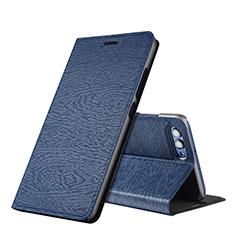 Huawei Honor View 10用手帳型 レザーケース スタンド L01 ファーウェイ ネイビー