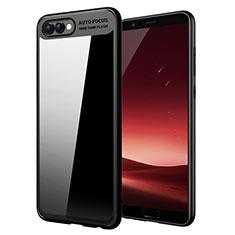 Huawei Honor View 10用シリコンケース ソフトタッチラバー 鏡面 M05 ファーウェイ ブラック