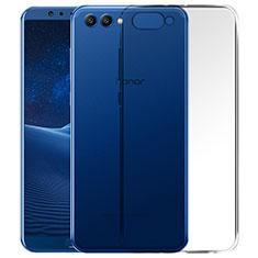 Huawei Honor View 10用極薄ソフトケース シリコンケース 耐衝撃 全面保護 クリア透明 T06 ファーウェイ クリア