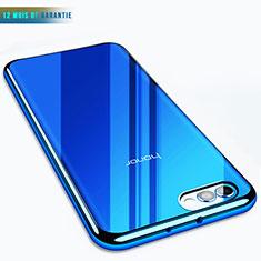 Huawei Honor View 10用極薄ソフトケース シリコンケース 耐衝撃 全面保護 クリア透明 T07 ファーウェイ ネイビー