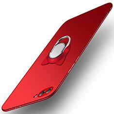 Huawei Honor View 10用ハードケース プラスチック 質感もマット アンド指輪 A03 ファーウェイ レッド