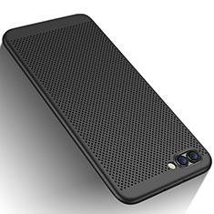 Huawei Honor View 10用ハードケース プラスチック メッシュ デザイン ファーウェイ ブラック