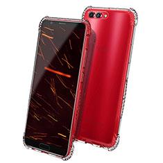 Huawei Honor View 10用極薄ソフトケース シリコンケース 耐衝撃 全面保護 クリア透明 T08 ファーウェイ クリア
