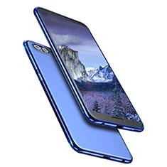 Huawei Honor View 10用極薄ソフトケース シリコンケース 耐衝撃 全面保護 クリア透明 T09 ファーウェイ ネイビー