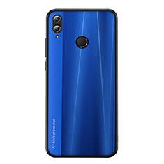 Huawei Honor View 10 Lite用シリコンケース ソフトタッチラバー ライン カバー ファーウェイ ネイビー