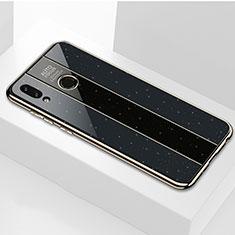 Huawei Honor View 10 Lite用ハイブリットバンパーケース プラスチック 鏡面 カバー ファーウェイ ブラック