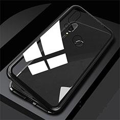 Huawei Honor View 10 Lite用ケース 高級感 手触り良い アルミメタル 製の金属製 バンパー 鏡面 カバー ファーウェイ ブラック