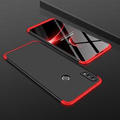 Huawei Honor View 10 Lite用ハードケース プラスチック 質感もマット 前面と背面 360度 フルカバー ファーウェイ レッド・ブラック