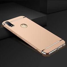 Huawei Honor View 10 Lite用ケース 高級感 手触り良い メタル兼プラスチック バンパー M01 ファーウェイ ゴールド