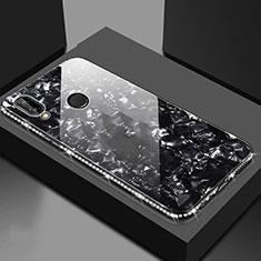 Huawei Honor View 10 Lite用ハイブリットバンパーケース プラスチック 鏡面 カバー M01 ファーウェイ ブラック