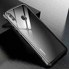 Huawei Honor View 10 Lite用ケース 高級感 手触り良い アルミメタル 製の金属製 バンパー 鏡面 カバー M01 ファーウェイ ブラック