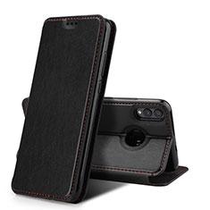 Huawei Honor View 10 Lite用手帳型 レザーケース スタンド カバー ファーウェイ ブラック