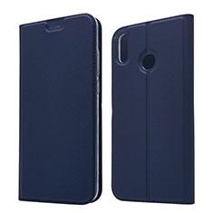 Huawei Honor View 10 Lite用手帳型 レザーケース スタンド カバー L05 ファーウェイ ネイビー