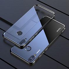 Huawei Honor View 10 Lite用極薄ソフトケース シリコンケース 耐衝撃 全面保護 クリア透明 H04 ファーウェイ ブラック