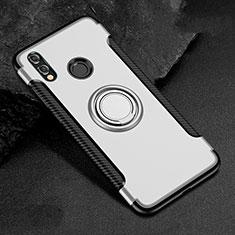 Huawei Honor View 10 Lite用ハイブリットバンパーケース プラスチック アンド指輪 S01 ファーウェイ ホワイト