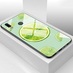 Huawei Honor View 10 Lite用ハイブリットバンパーケース プラスチック 鏡面 バタフライ フルーツ カバー ファーウェイ グリーン