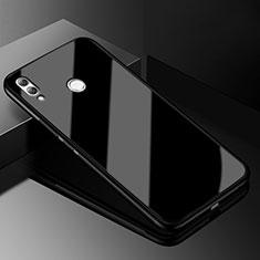 Huawei Honor View 10 Lite用ハイブリットバンパーケース クリア透明 プラスチック 鏡面 カバー M04 ファーウェイ ブラック