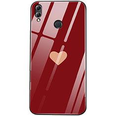 Huawei Honor View 10 Lite用ハイブリットバンパーケース プラスチック 愛の心 鏡面 S04 ファーウェイ レッド