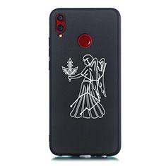 Huawei Honor View 10 Lite用シリコンケース ソフトタッチラバー 星座 カバー S12 ファーウェイ ブラック