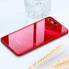 Huawei Honor View 20用極薄ソフトケース シリコンケース 耐衝撃 全面保護 クリア透明 H02 ファーウェイ レッド