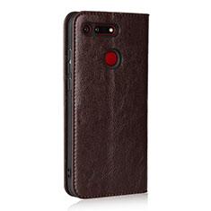 Huawei Honor View 20用手帳型 レザーケース スタンド カバー T19 ファーウェイ ブラウン