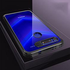 Huawei Honor View 20用極薄ソフトケース シリコンケース 耐衝撃 全面保護 クリア透明 S04 ファーウェイ ブラック