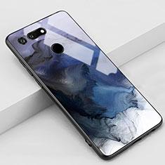 Huawei Honor View 20用ハイブリットバンパーケース プラスチック パターン 鏡面 カバー K03 ファーウェイ グレー