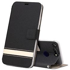 Huawei Honor View 20用手帳型 レザーケース スタンド カバー T15 ファーウェイ ブラック